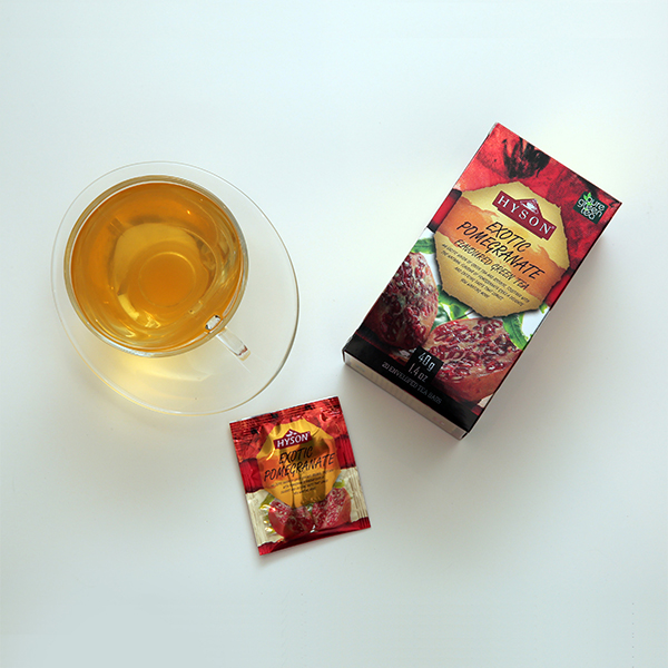 Exotic Pomegranate Green Tea - Tea Bags